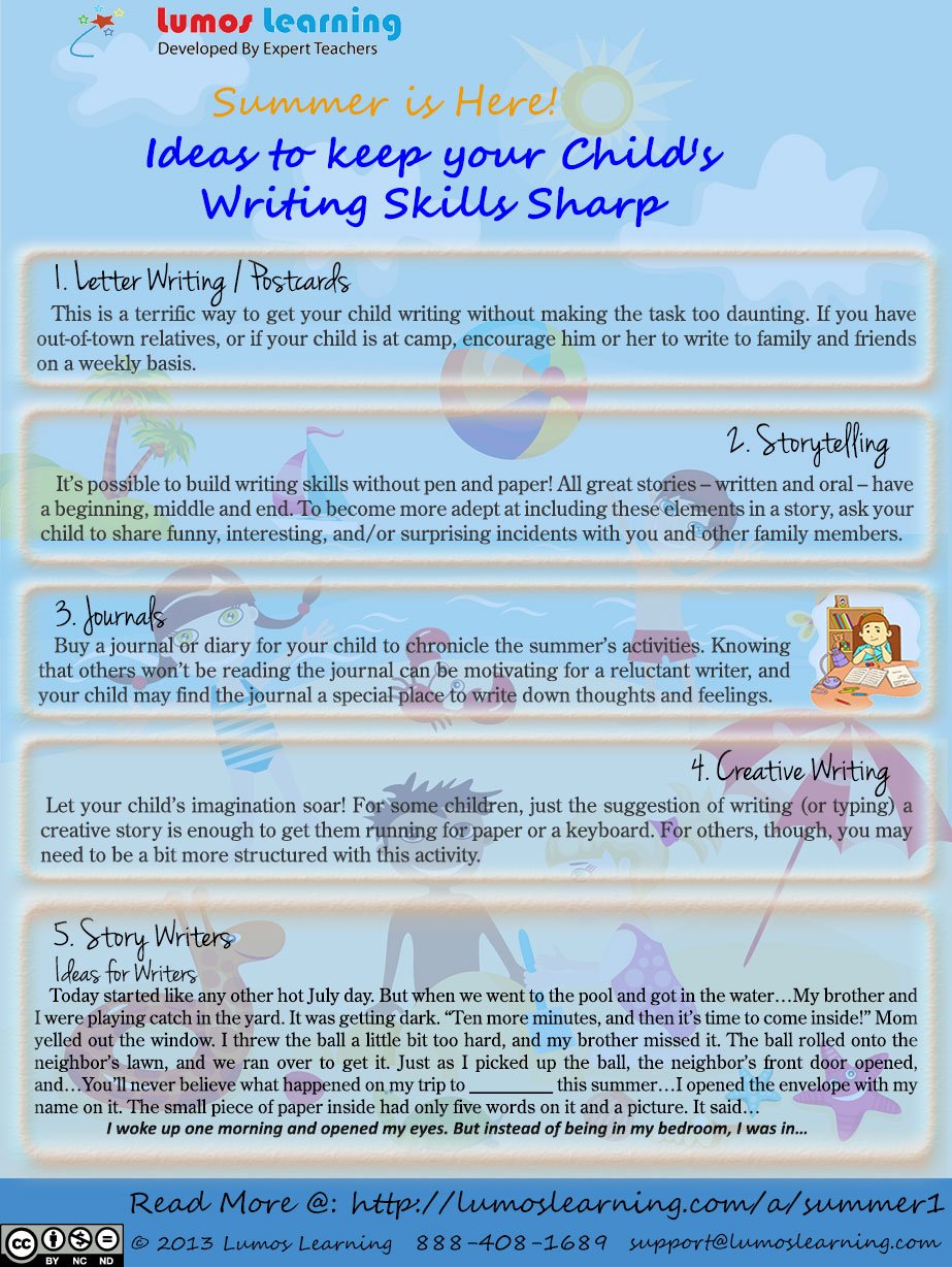 Infographic on the Ideas to Keep Your Child's Writing Skills Sharp
