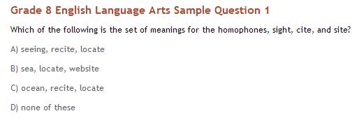 ELA Sample question
