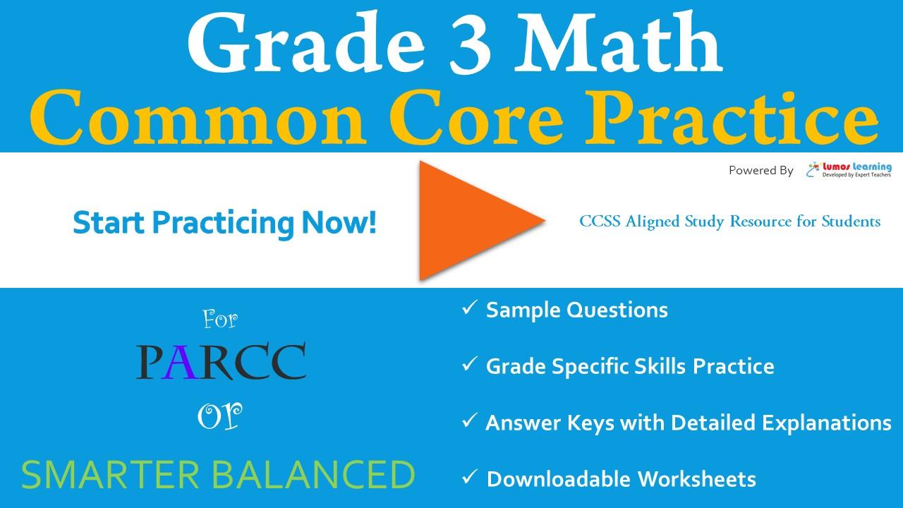 SBAC Grade 3 Mathematics Practice Test   LumosLearning