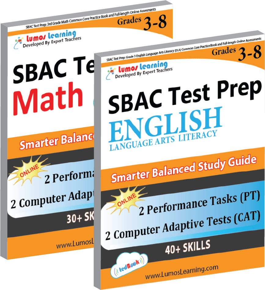 SBAC Grade 3-8 Math and ELA Book