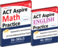 Act ASPIRE Test Prep Workbooks