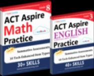 Act ASPIRE Test Prep Workbooks