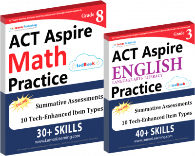Printed Practice Workbooks and Online Practice Tests for ACT Aspire