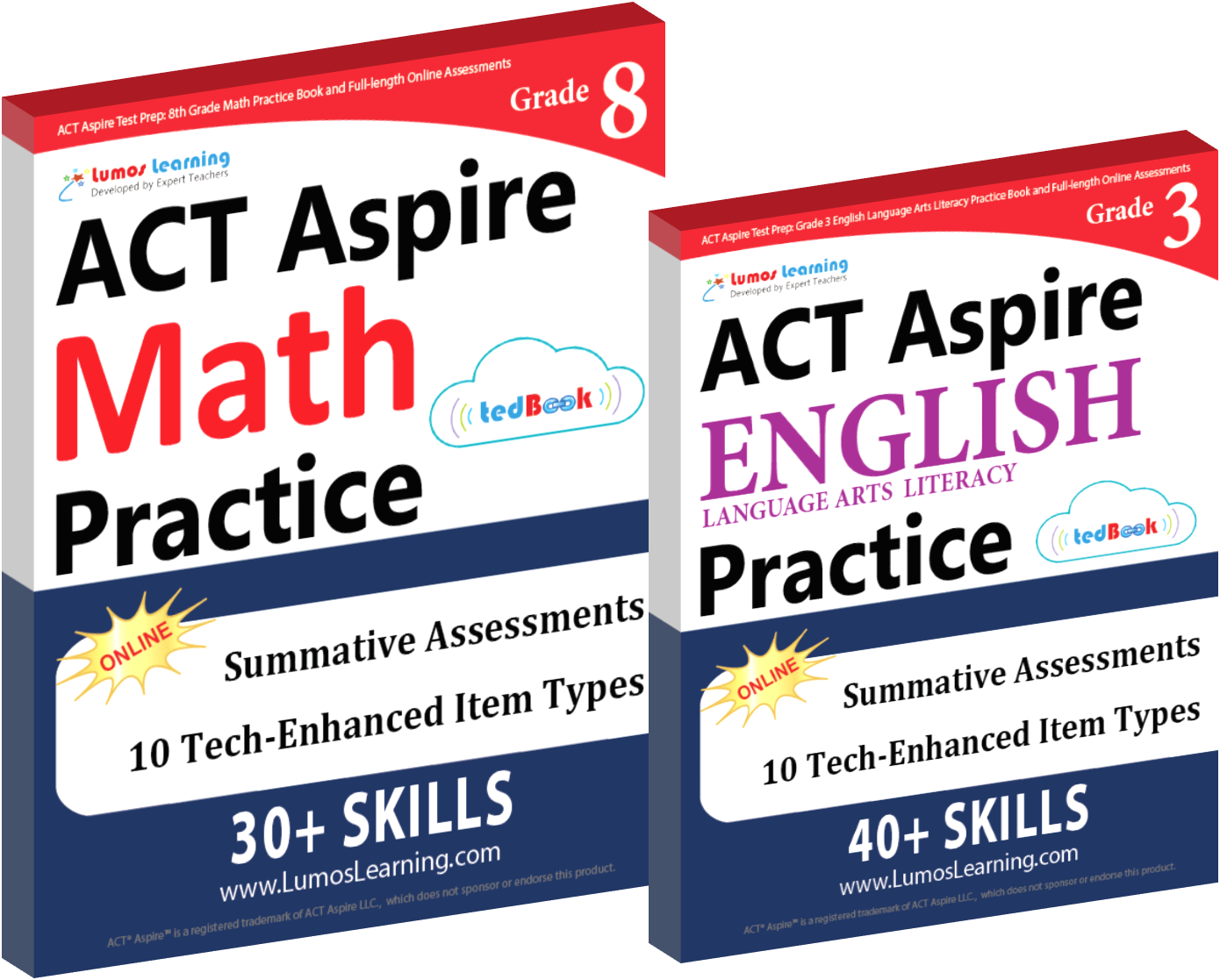 ACT Aspire practice test online workbook