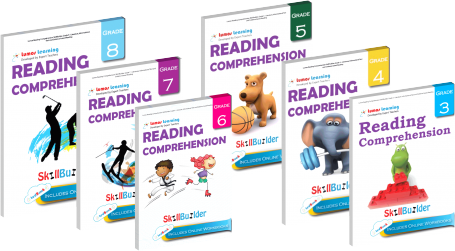 reading Comprehension tedbooks for grade 3 to 8