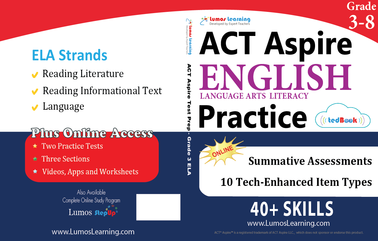 ACT Aspire Grade 3-8 ELA Book
