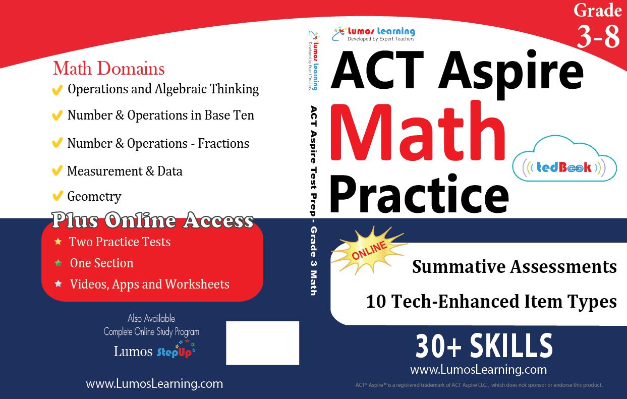 ACT Aspire Grade 3-8 Math Book