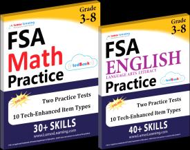 FSA Math English Test Prep Workbooks