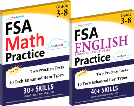 FSA Math English Test Prep Workbooks