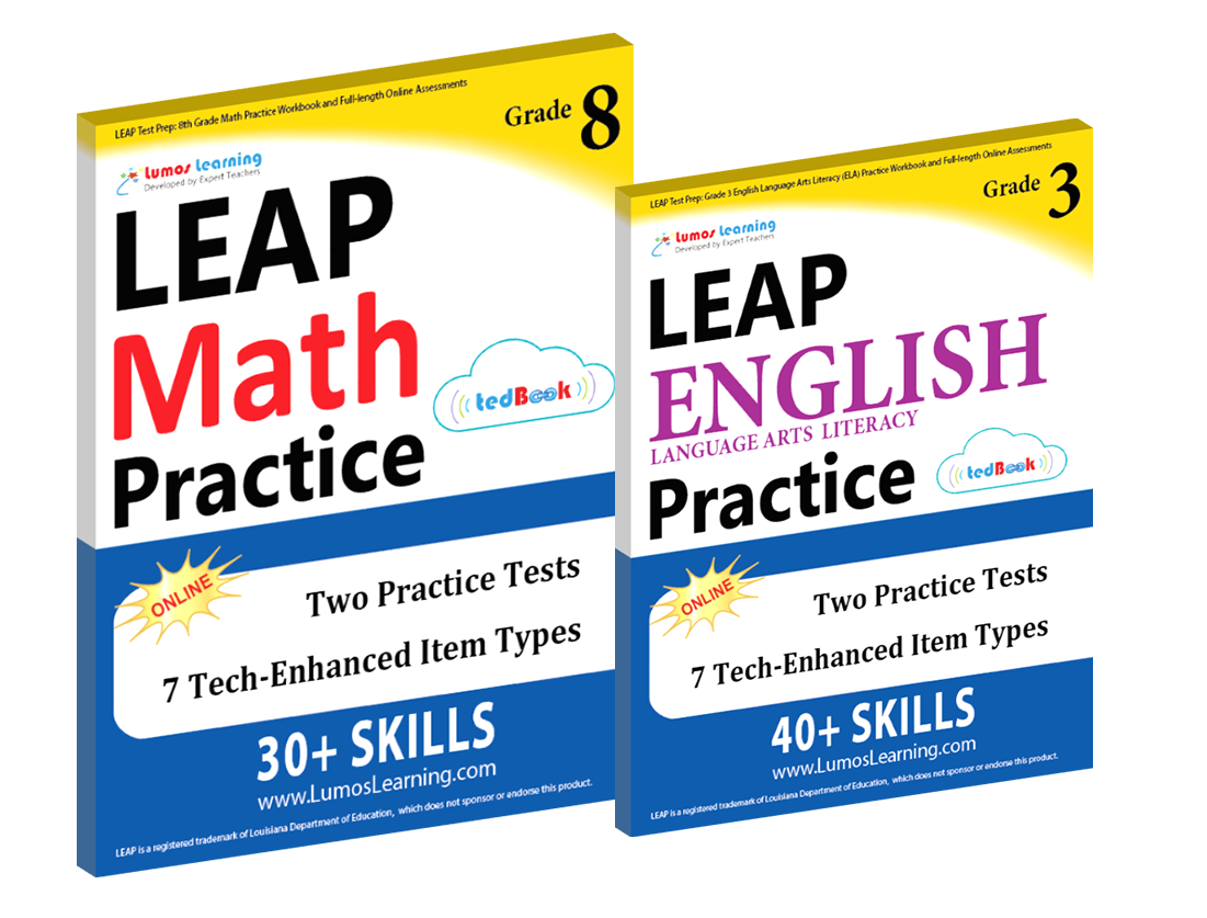 Printed Practice Workbooks and Online Practice Tests for LEAP