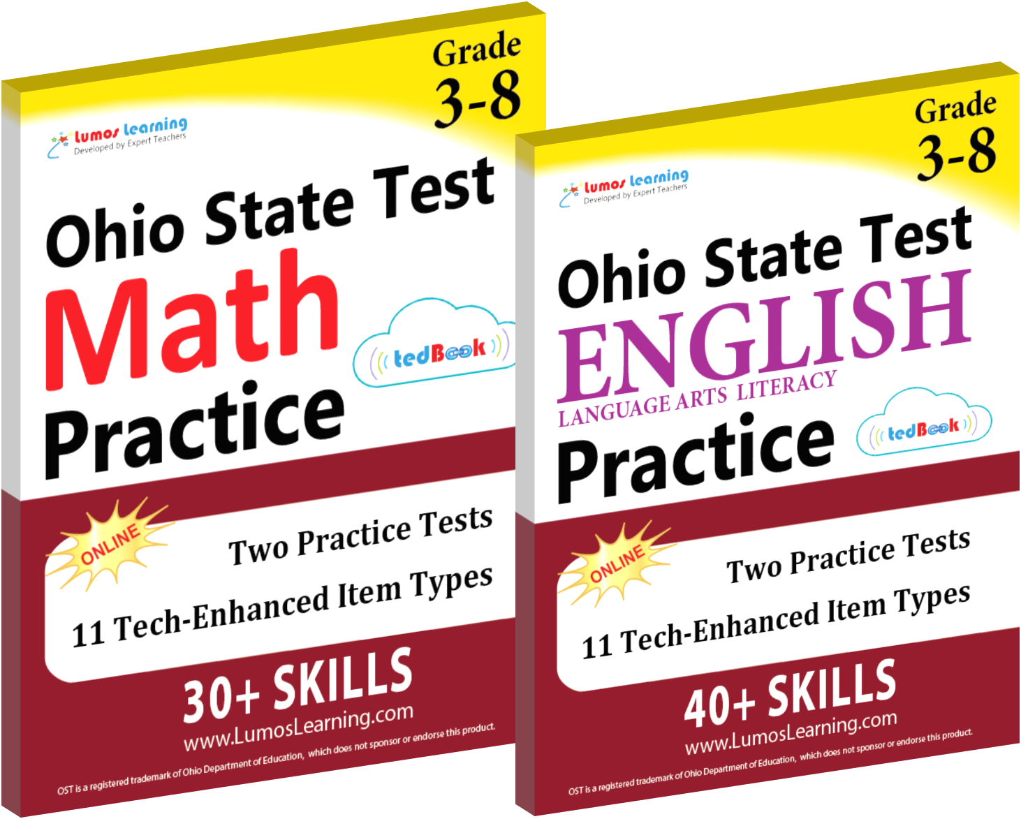 Printed Practice Workbooks and Online Practice Tests for OST