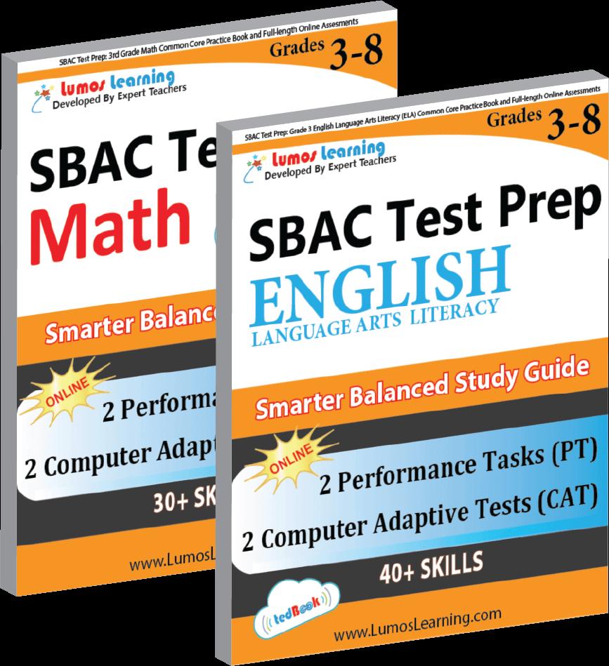 SBAC Grade 3-8 Math and ELA Book