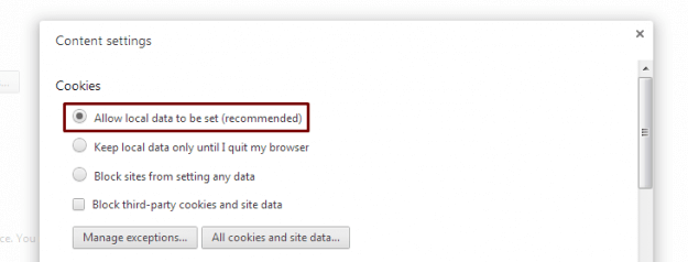 enable cookies chrome
