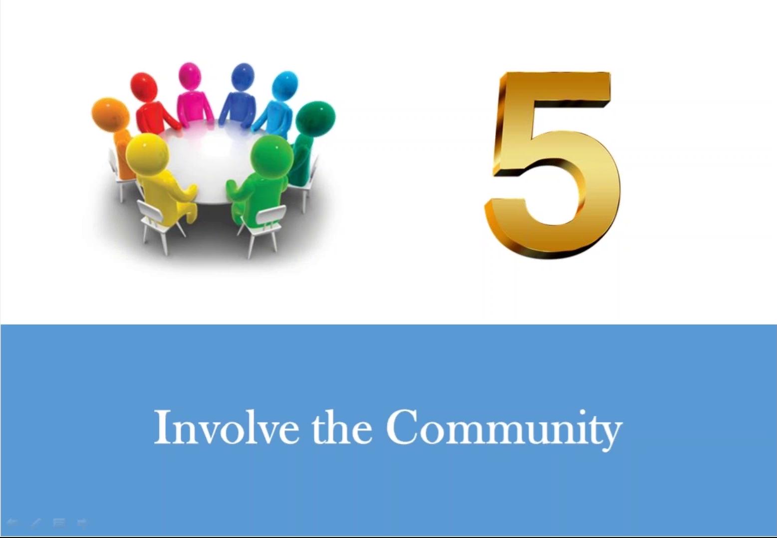 Involving the community