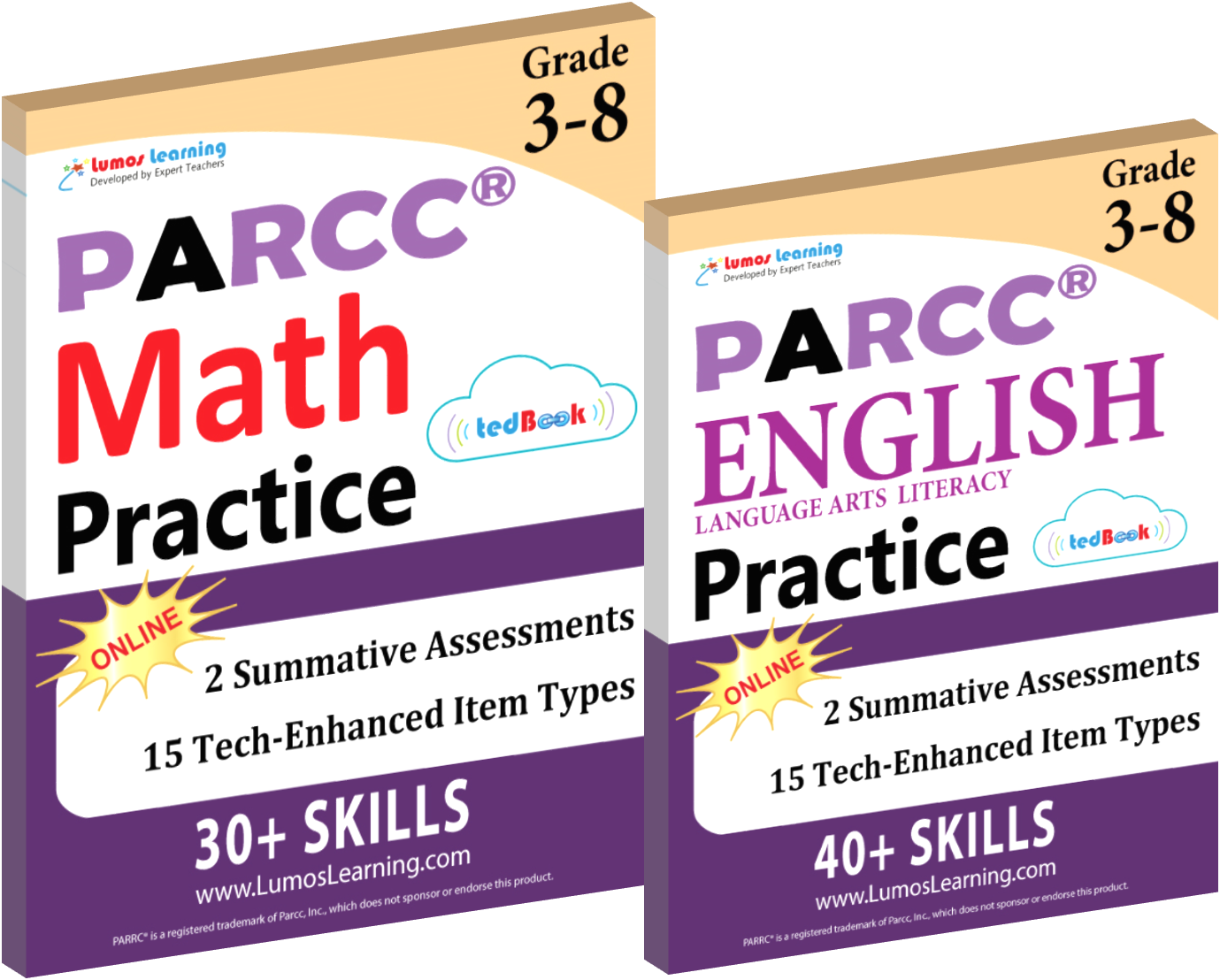 Printed Practice Workbooks and Online Practice Tests for PARCC