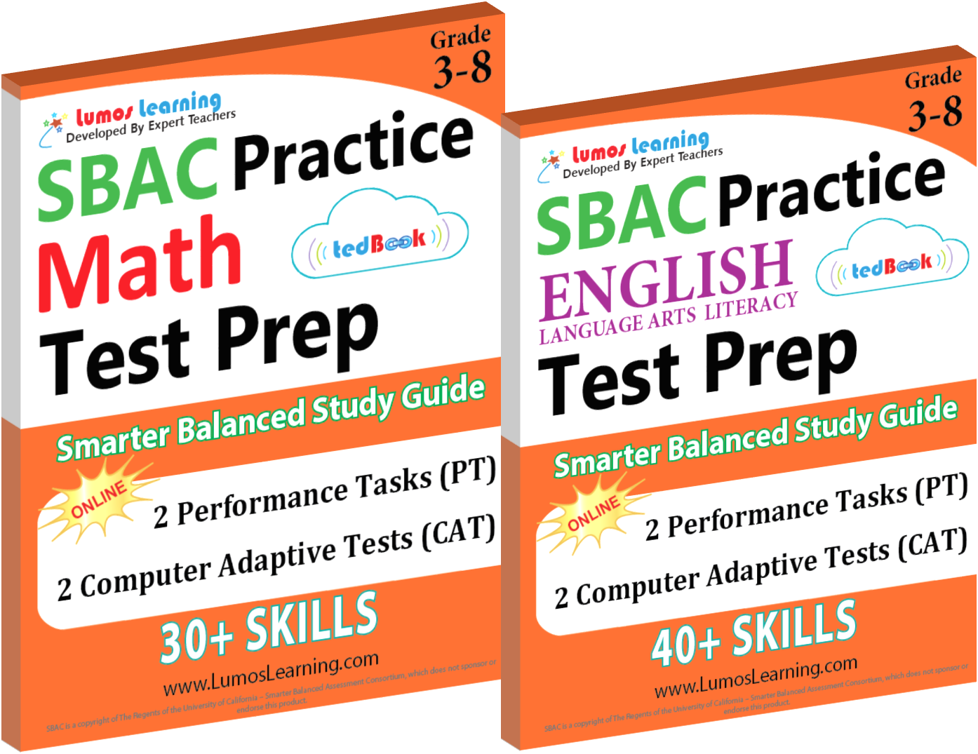 Printed Practice Workbooks and Online Practice Tests for SBAC