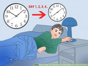 Sleep on time - back to school tips for students
