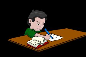student doing homework