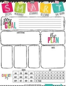 Set Goals - back to school tips for students