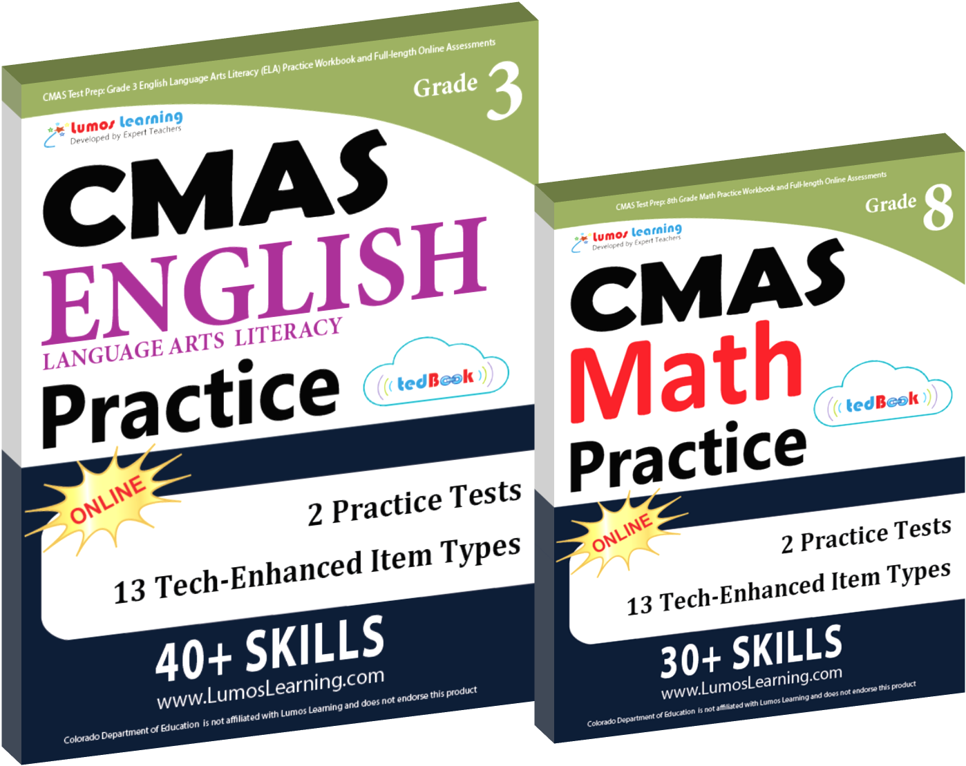 Printed Practice Workbooks and Online Practice Tests for CMAS