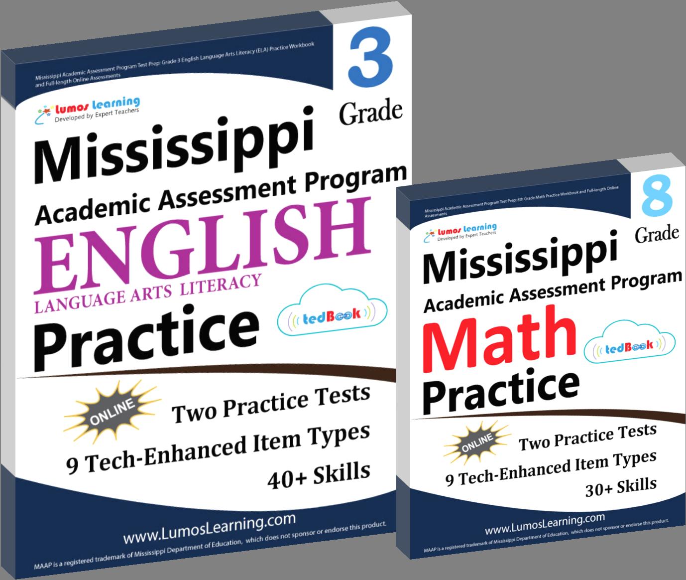 MAAP Math English Test Prep Workbooks