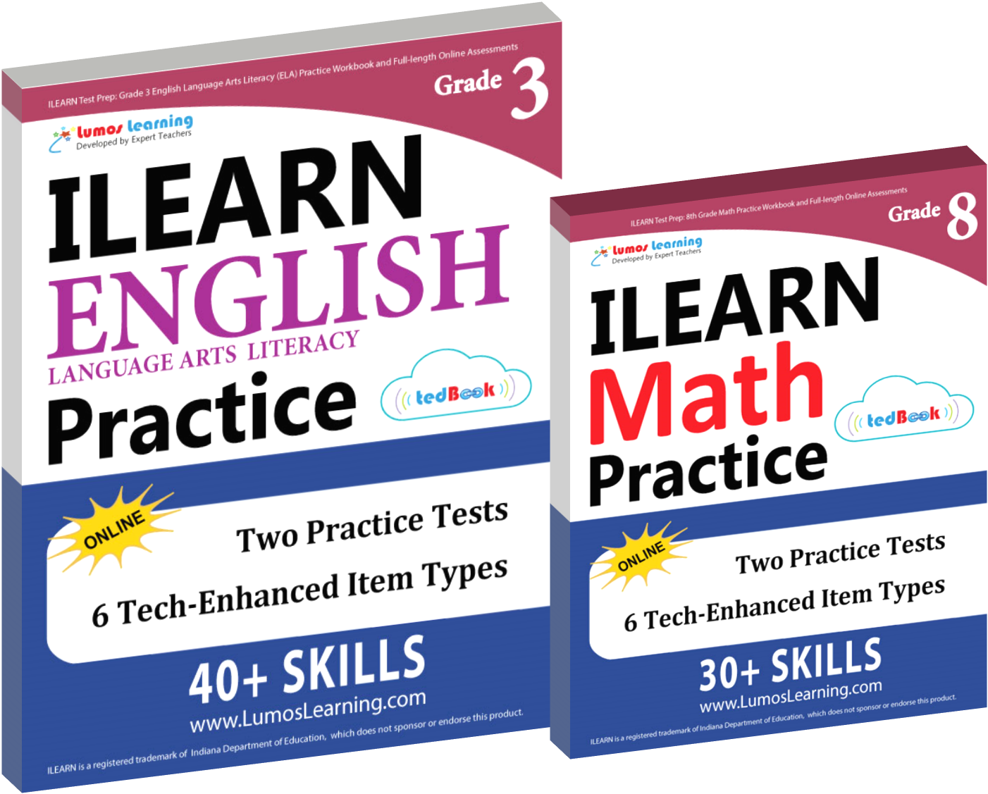 Printed Practice Workbooks and Online Practice Tests for ILEARN
