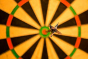 Target with dart