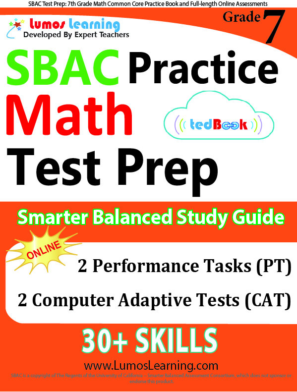 Lumos tedBook™ SBAC Edition - Printed Practice Tests and