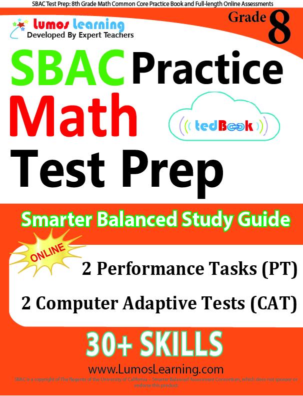 Lumos tedBook™ SBAC Edition - Printed Practice Tests and Online