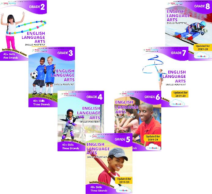 Lumos Skills Mastery tedbooks for grade 2 to 8