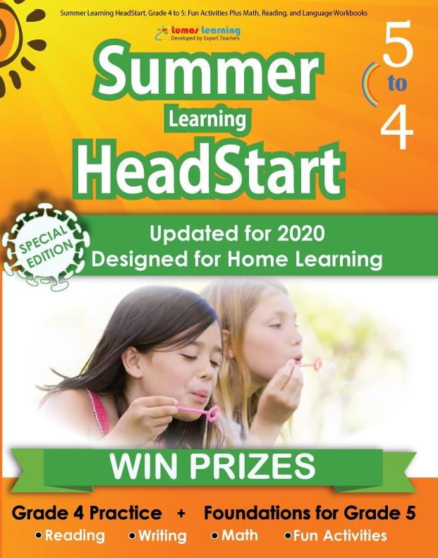 Summer Program HeadStart book for 4th Grader going to 5th Grade