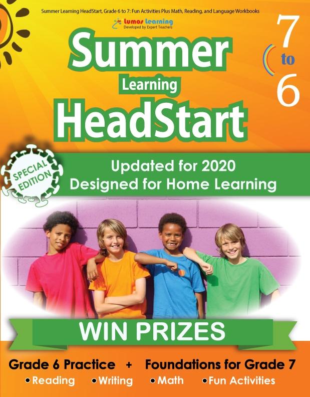 Summer Program HeadStart book for 6th Grader going to 7th Grade