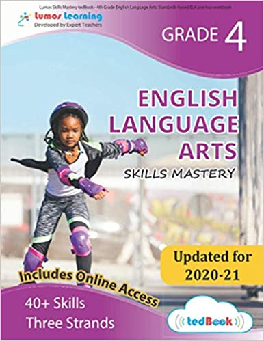 Grade 4 ELA skills mastery workbook