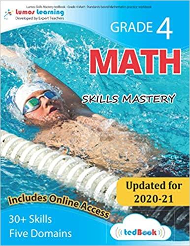 Grade 4 Math skills mastery workbook