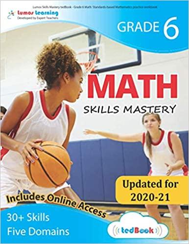 Grade 6 Math skills mastery workbook
