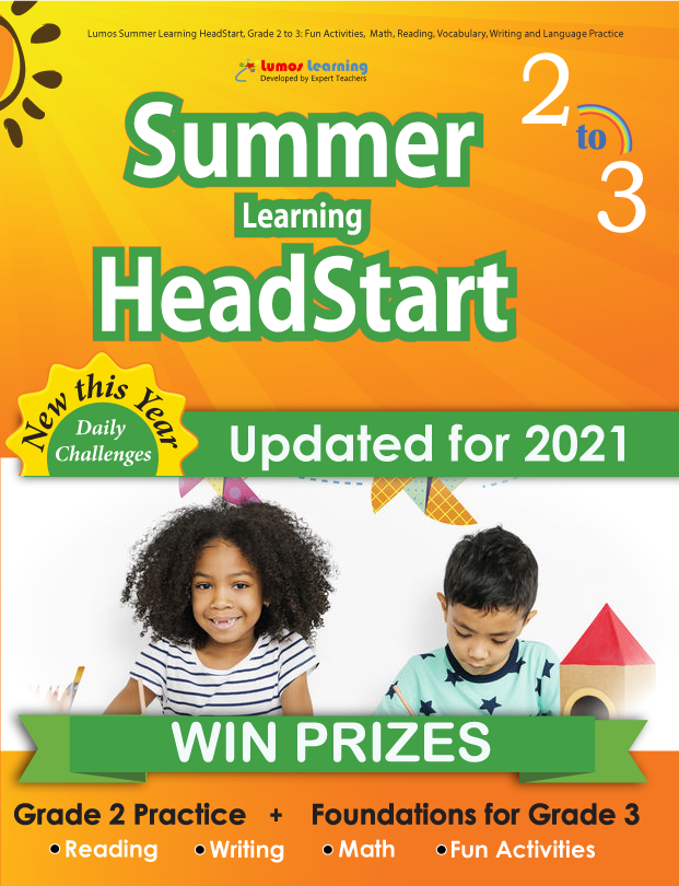 Summer Program HeadStart book for 2nd Grader going to 3rd Grade