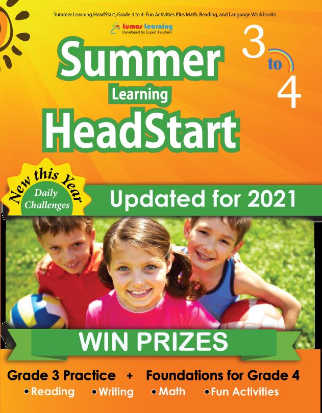 Summer Program HeadStart book for 3rd Grader going to 4th Grade