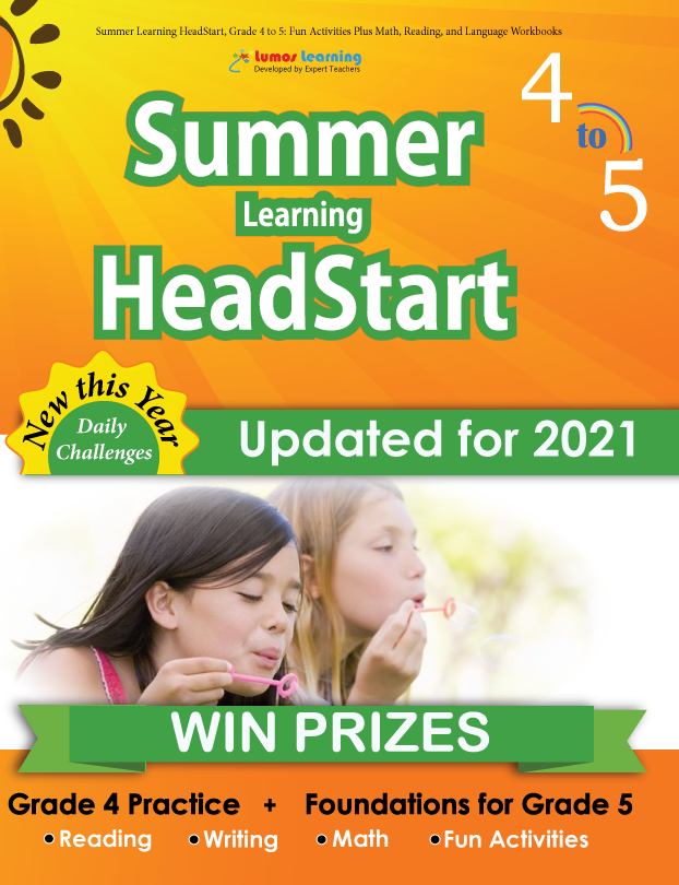 Summer Program HeadStart workbook grade 4 to 5