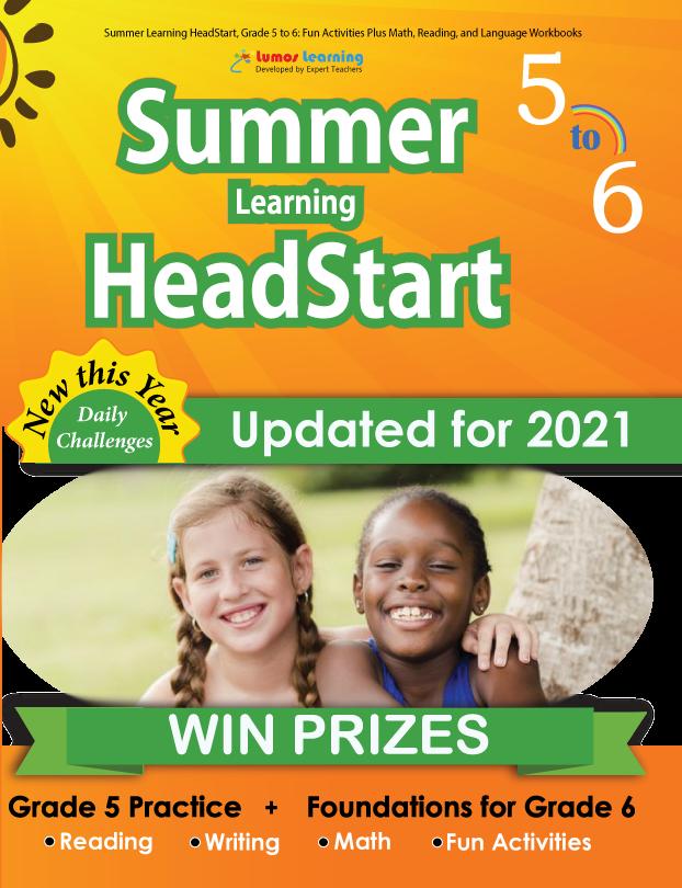 Summer Program HeadStart book for 5th Grader going to 6th Grade