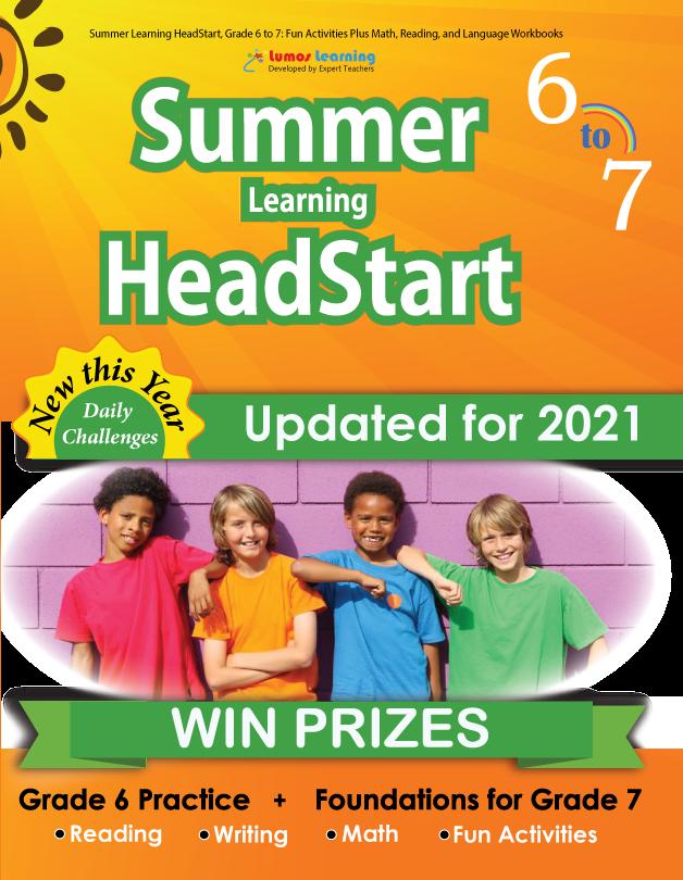 Summer Program HeadStart workbook grade 6 to 7