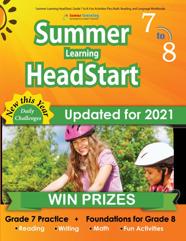 Summer Program HeadStart book for 7th Grader going to 8th Grade
