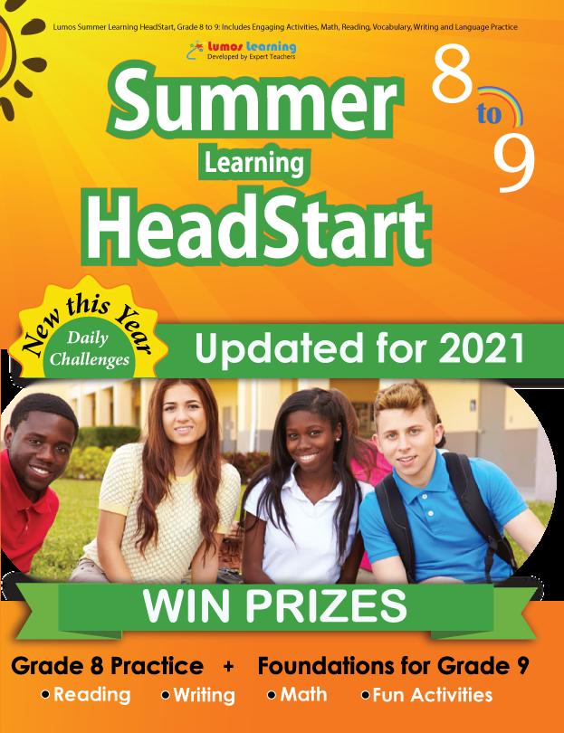 Summer Program HeadStart book for 8th Grader going to 9th Grade