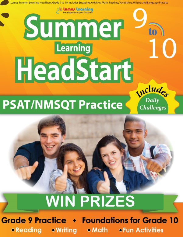 Summer Program HeadStart book for 9th Grader going to 10th Grade