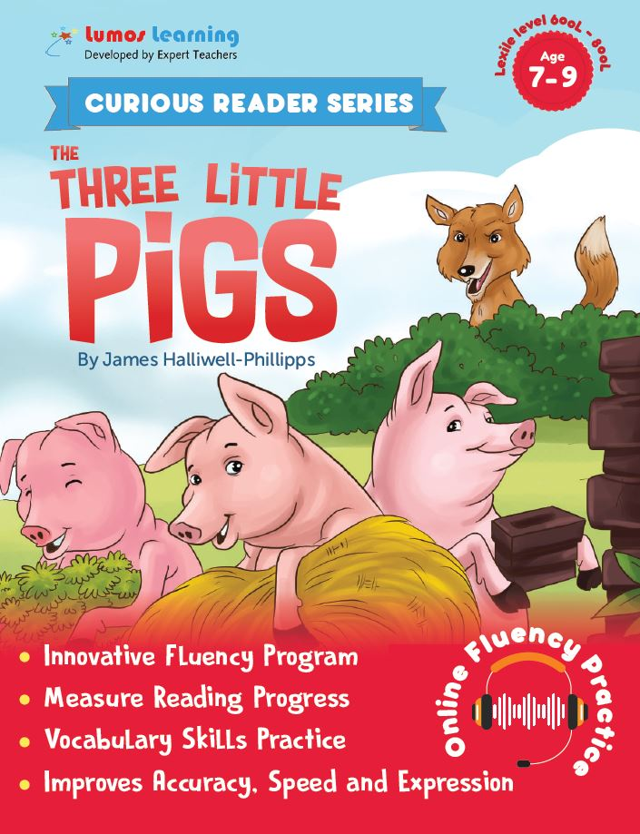 three little pigs - Curious Reader  - Reading fluency program
